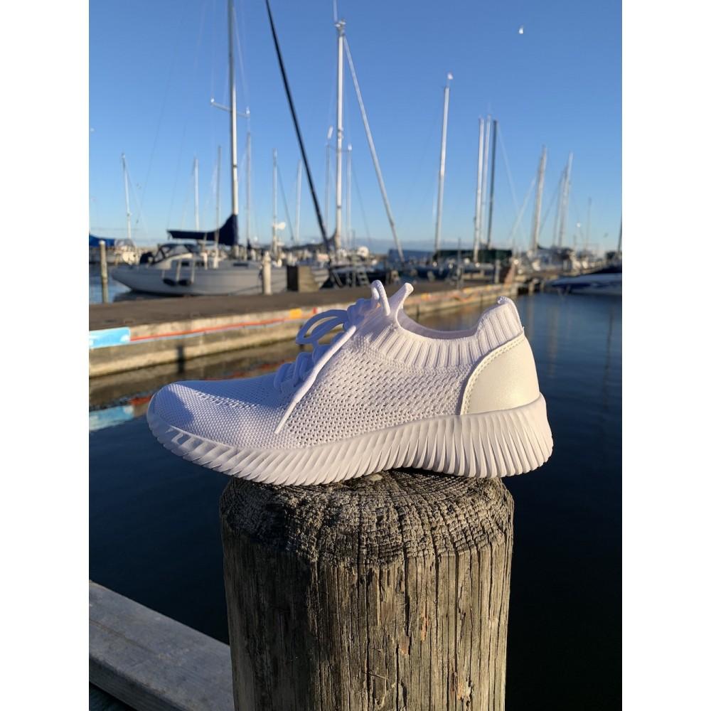 Knit sock snøre - white