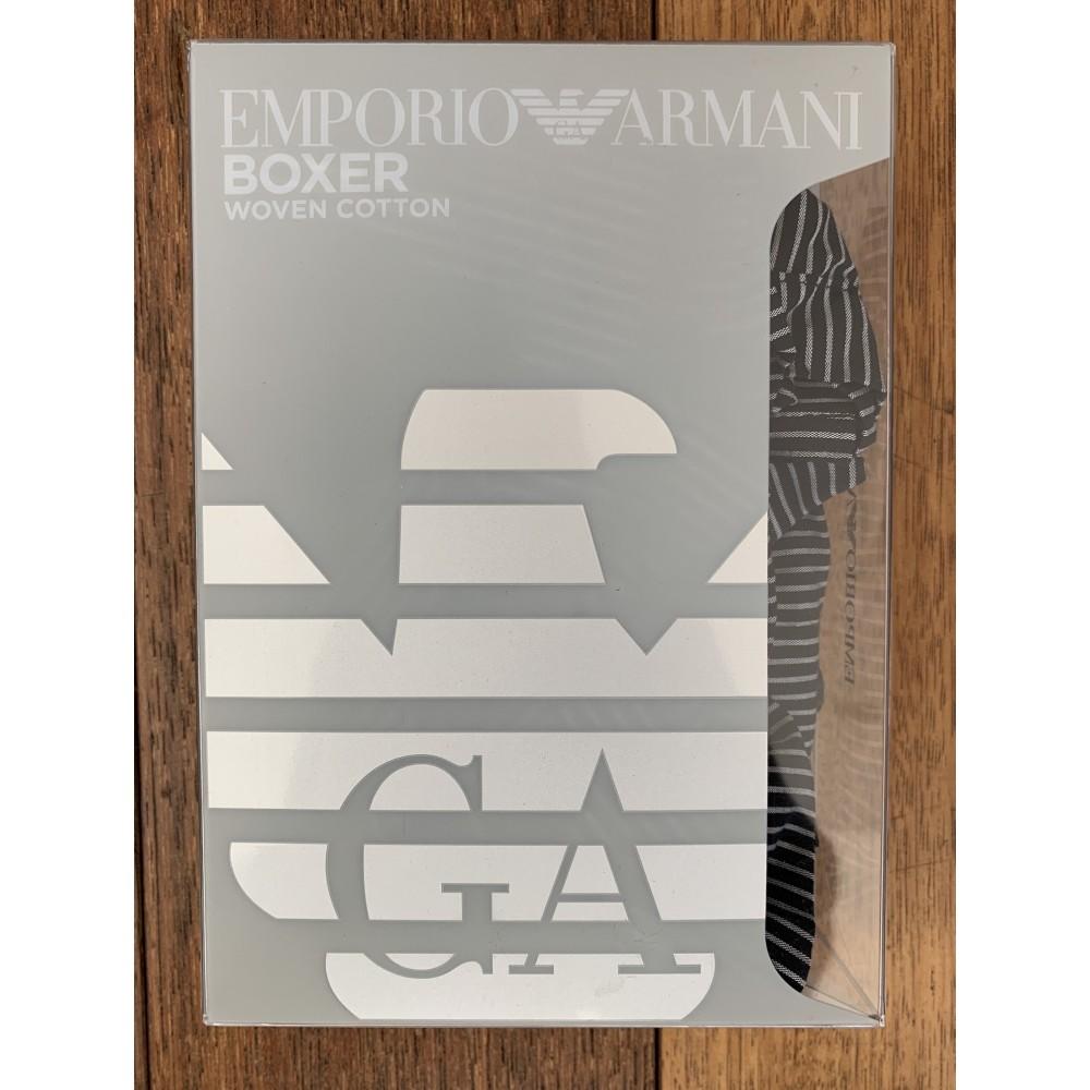 Woven Cotton Boxershorts, black striped-01