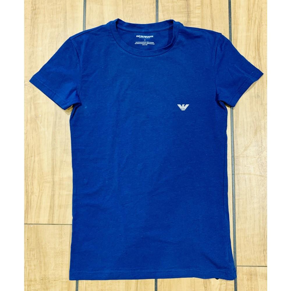 Crew Neck T-shirt S/Sleeve, bluelette