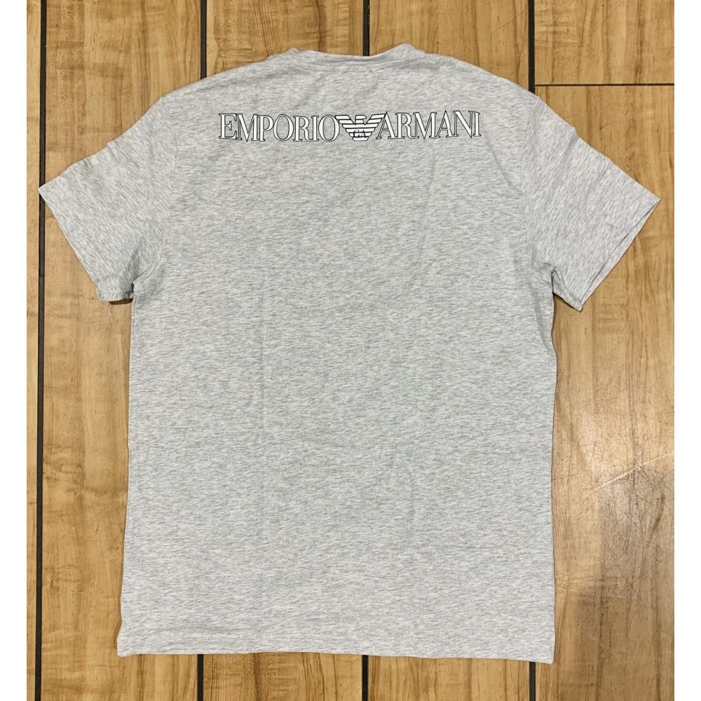 V Neck T-shirt S/Sleeve, melange grey-01