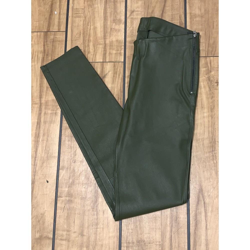 Læder Leggins, Army Green