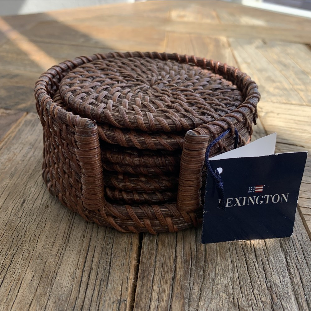 Rattan Coaster - Brown (set of 6)