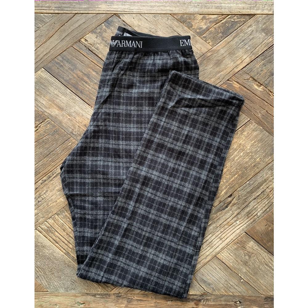 Armani natbukser, mørkegrå tern