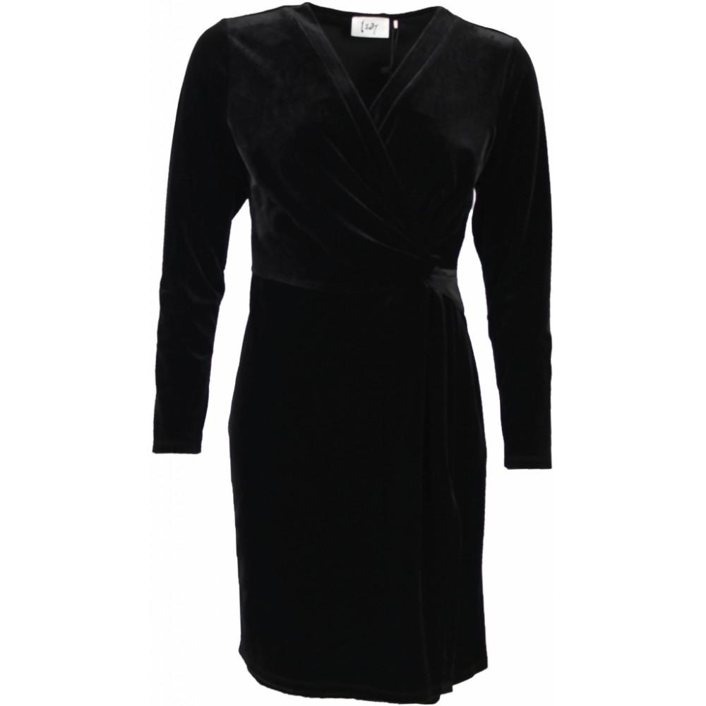 Dagmar Velvet Dress, Black