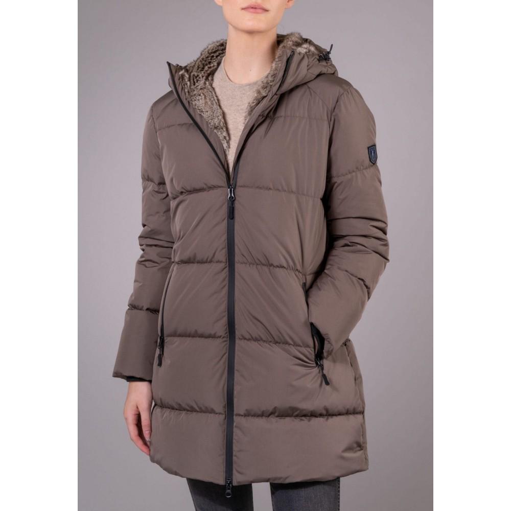 Caroline Puffer Coat - Mole
