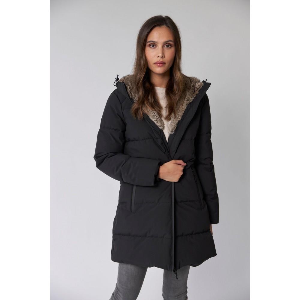 Caroline Puffer Coat - Black