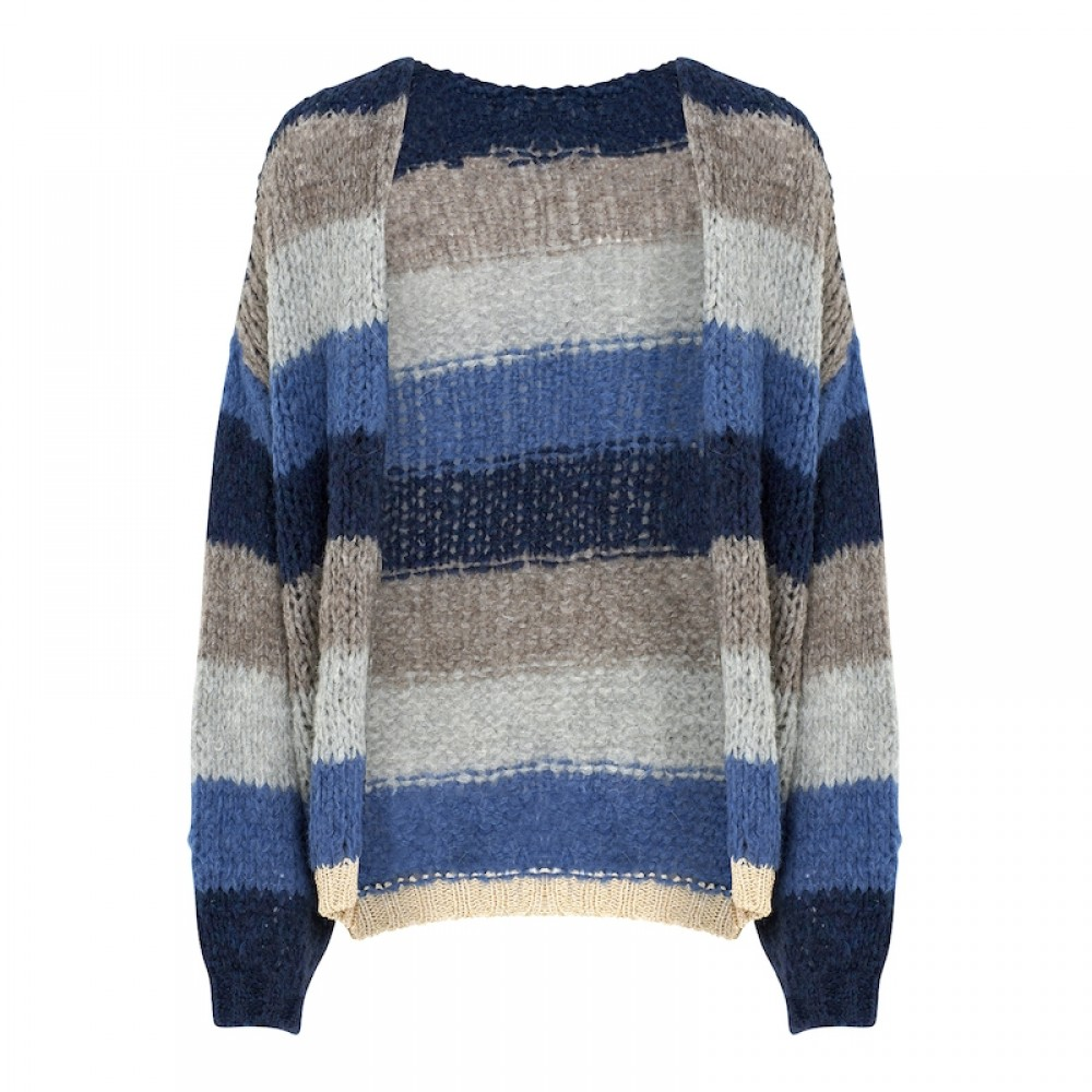 Kala Knit Cardigan, Navy/light nature