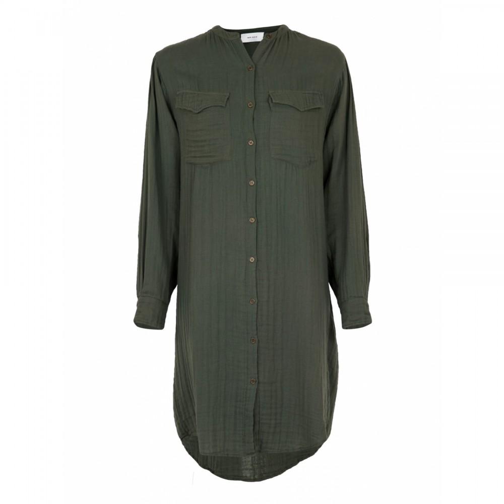Kendell Gauze Shirt Dress
