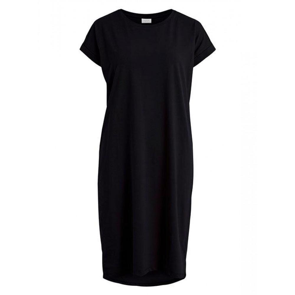 Vidreamers s/s knee dress - black