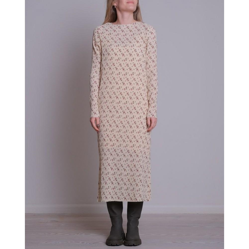 Vogue fading flower dress - creme