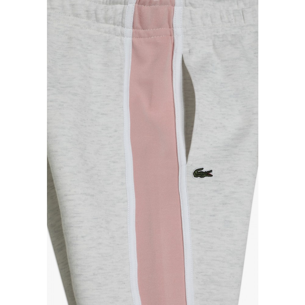 Lacoste sweatpants Gris Chiné/Rose Pale-01