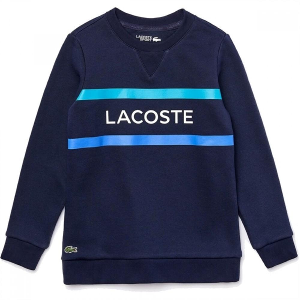 Lacoste Sweatshirt Bleu Marine/Turquoise