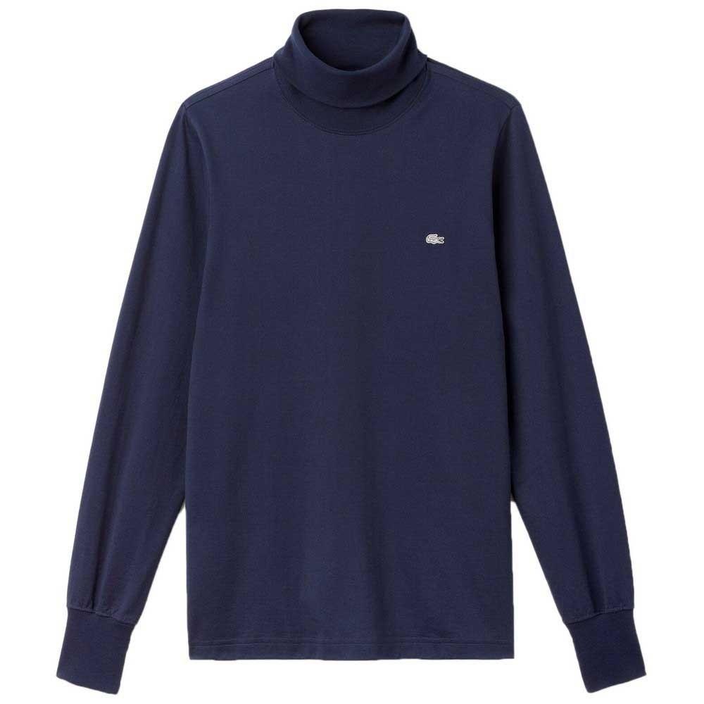 Long Sleeved Turtle Neck Shirt, Navy Blue