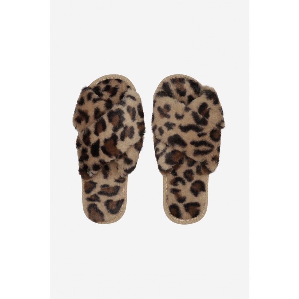 Lou Faux Fur Slippers - Leo