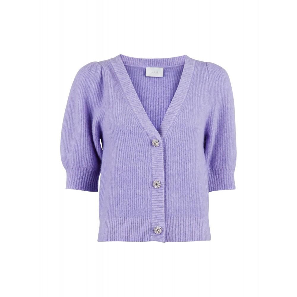 Marsia diamond knit cardigan - light lavender