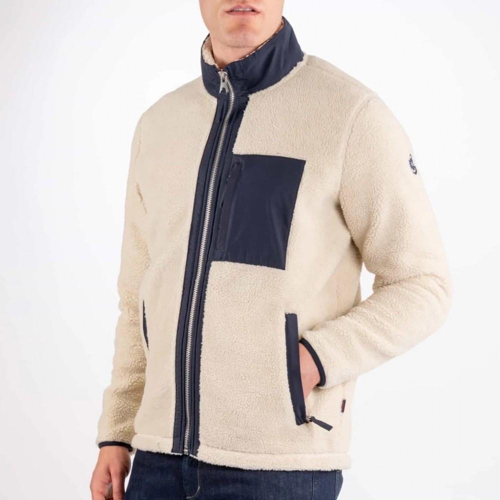 Pile sweater white