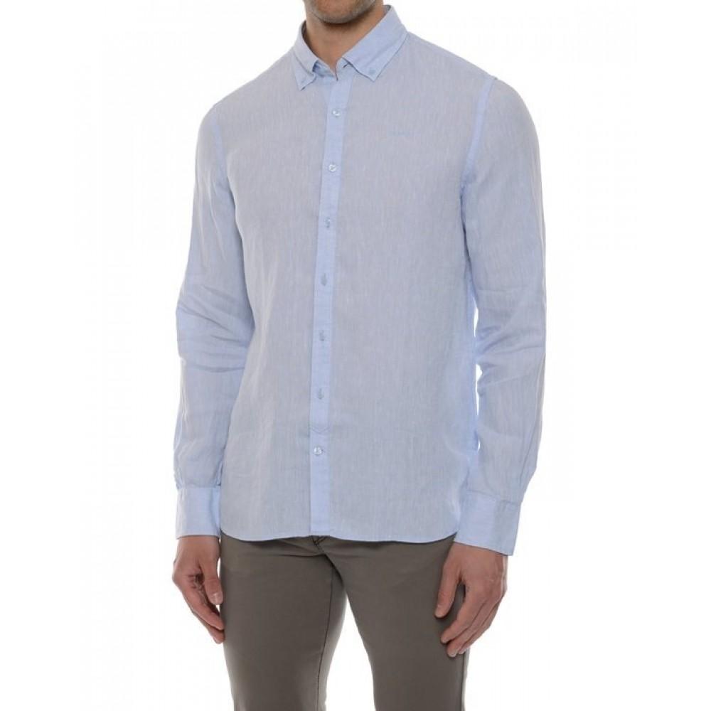 Anthony linen shirt - light blue