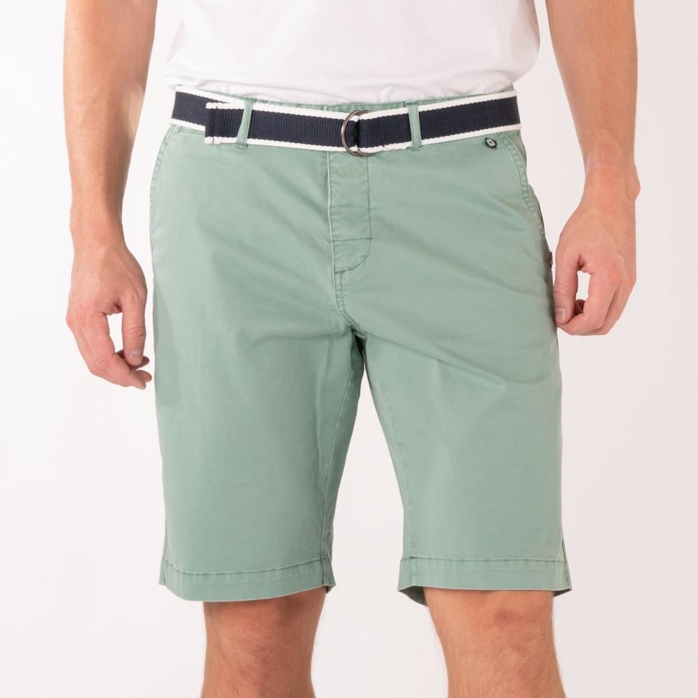 Belted bermuda shorts - mint
