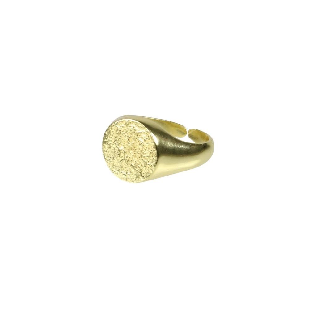 Signet Ring, guldbelagt