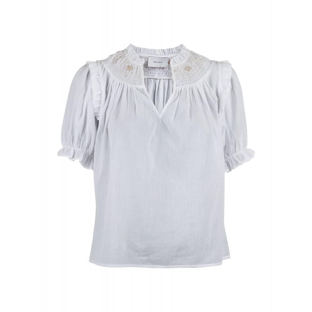 Neo Noir Rimma smock blouse - white