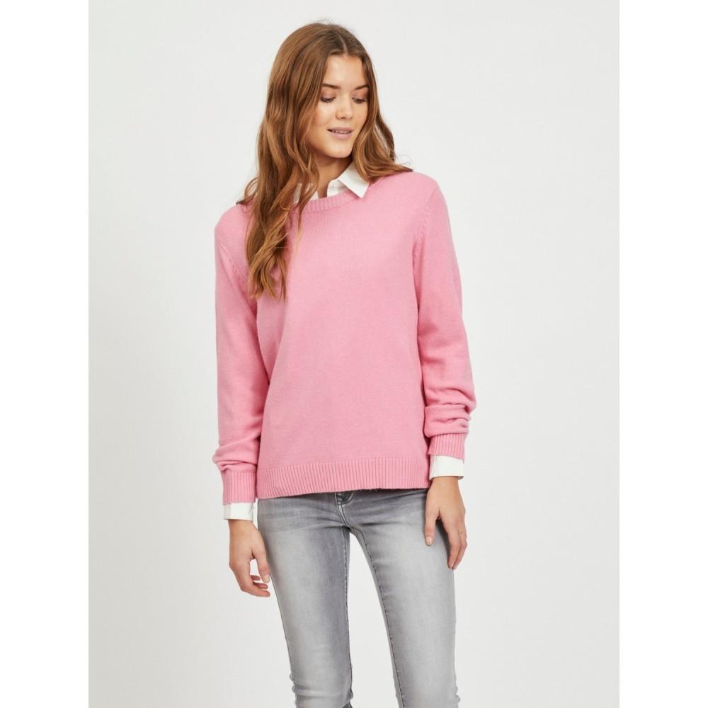 Viril o-neck L/S knit - wild rose
