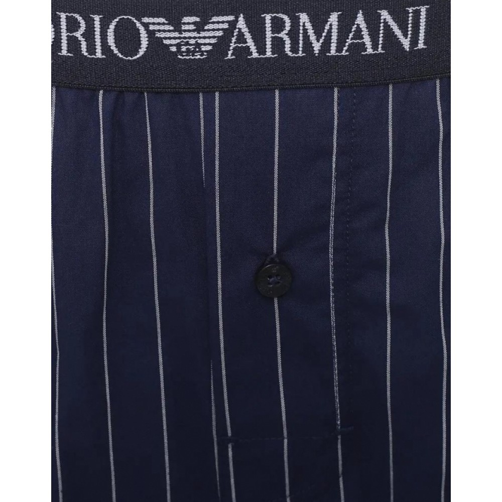 Mens Woven Boxershorts, blue striped-01