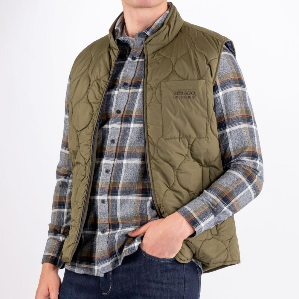 Docksides Quilted Vest, utility green-01