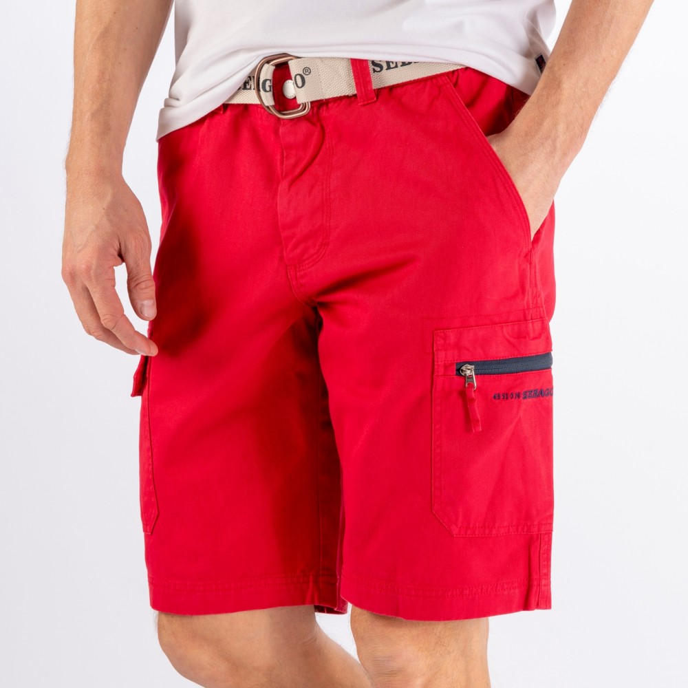 Cargo crew shorts - red
