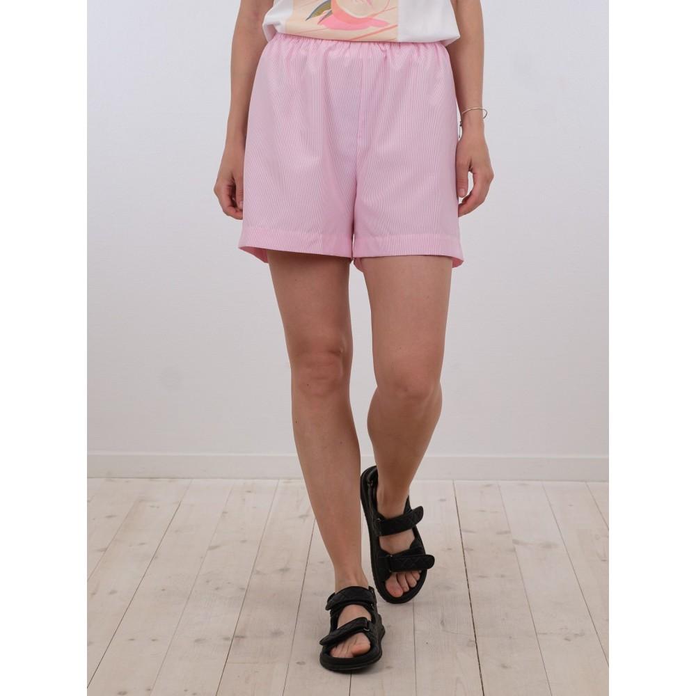 Marsh mini stripe shorts - light pink