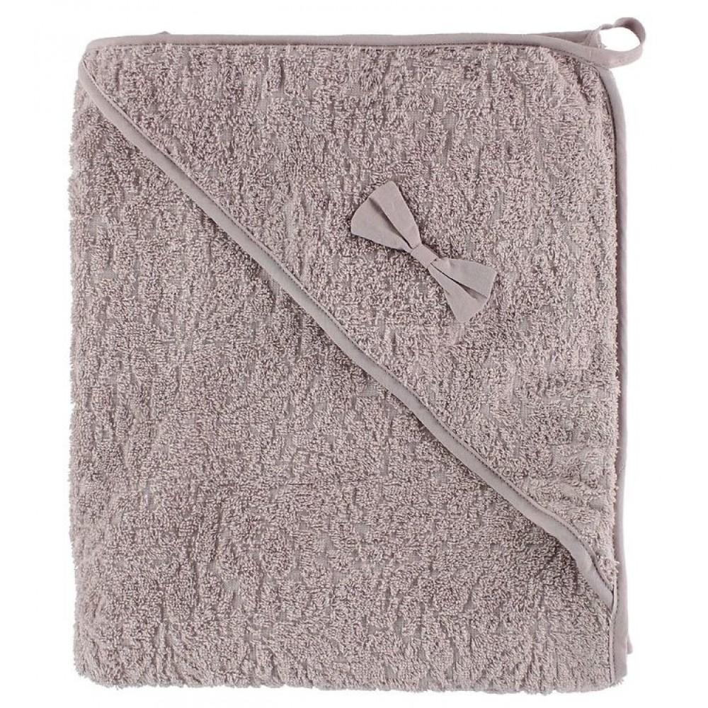 Organic hooded towel - rosa