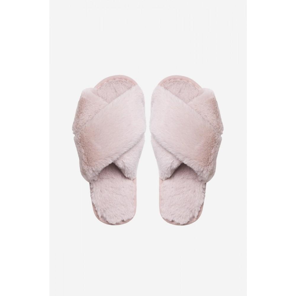 Lou Faux Fur Slippers - Rosa