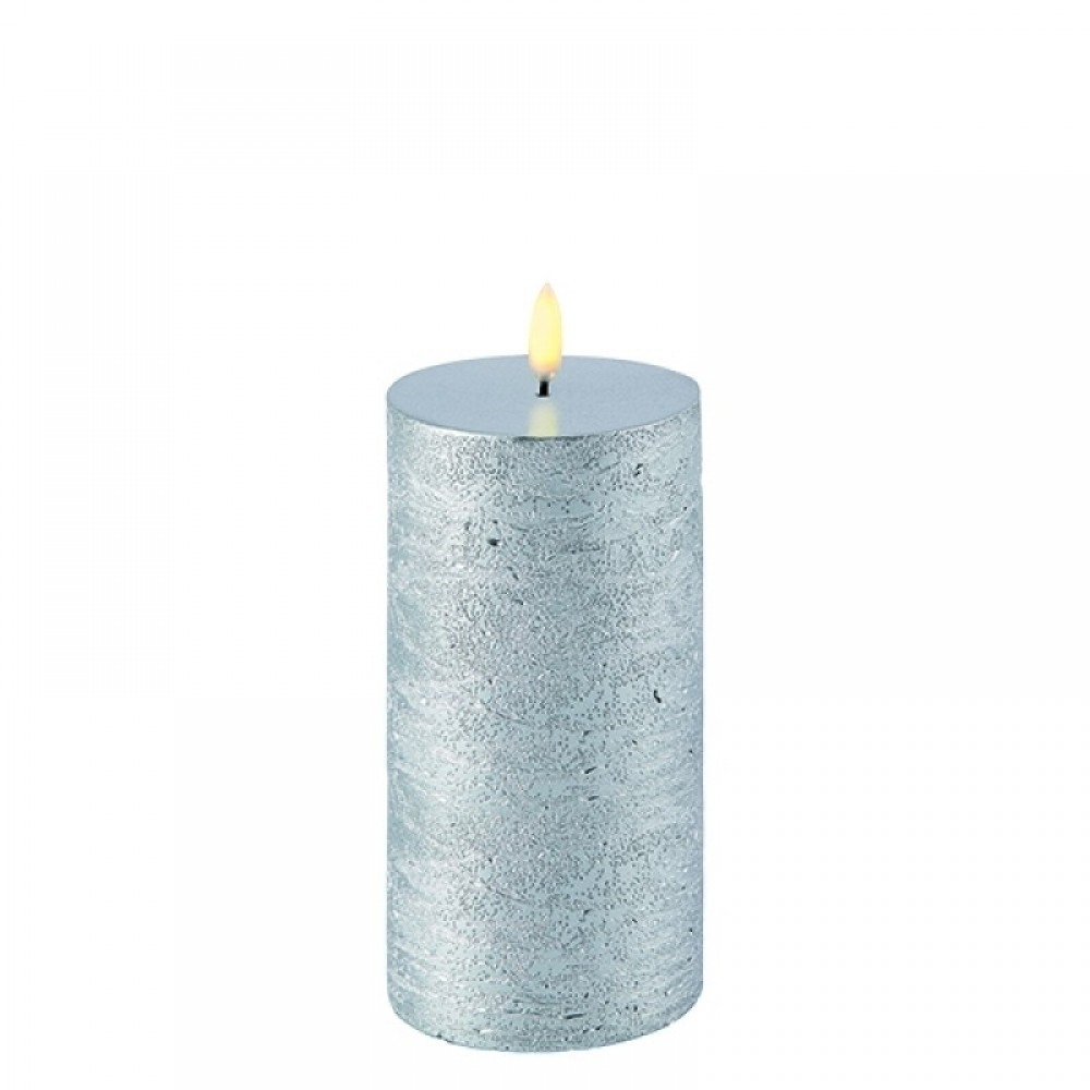 Pillar Metallic silver, 7.8 x 15.2