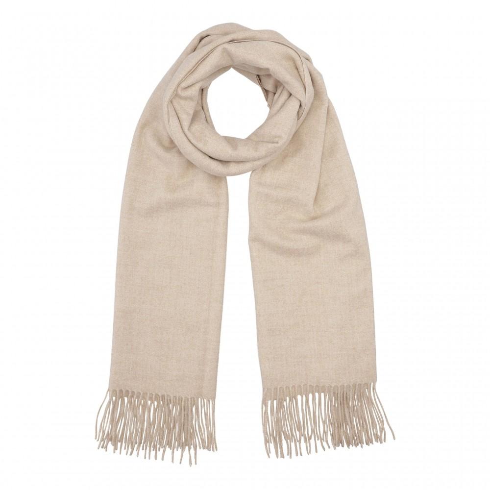 Cozy classic scarf, light sand