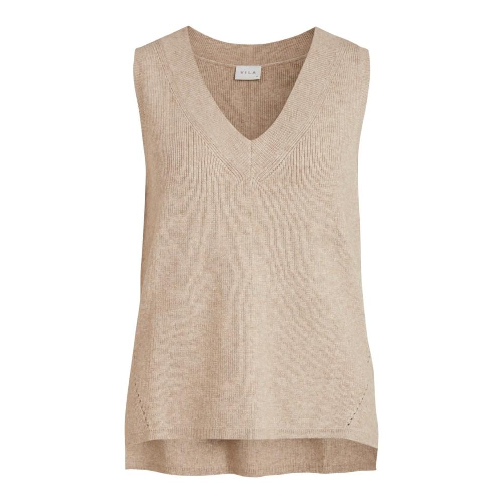 Viril knit rib V-neck vest