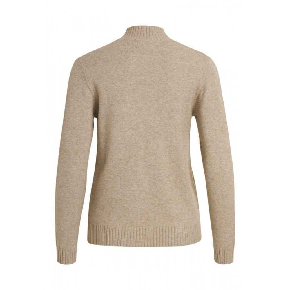 Viril turtleneck L/S knit, natural melange-01