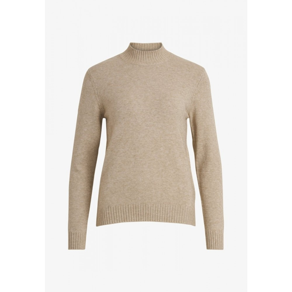 Viril turtleneck L/S knit, natural melange