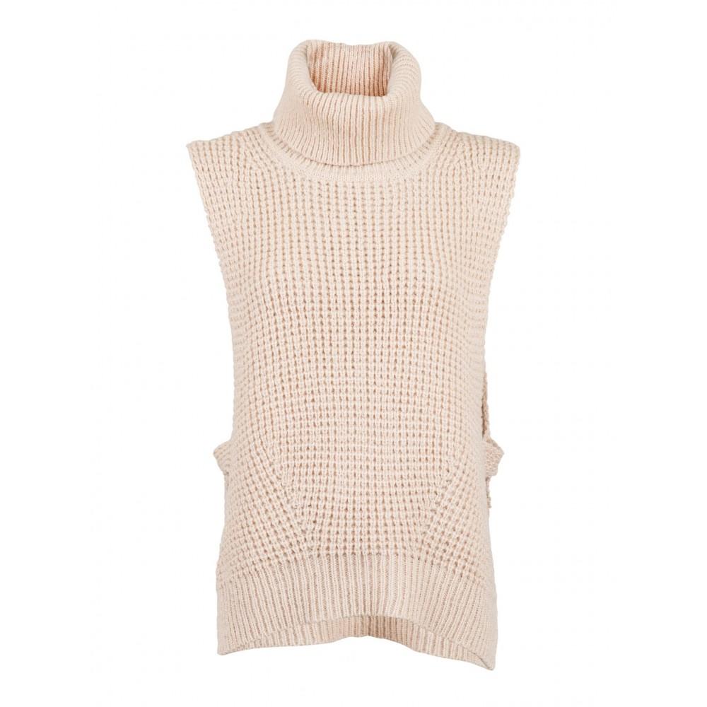 Jamie knit waistcoat, sand