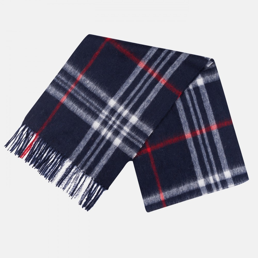 Lambswool Scarf Navy