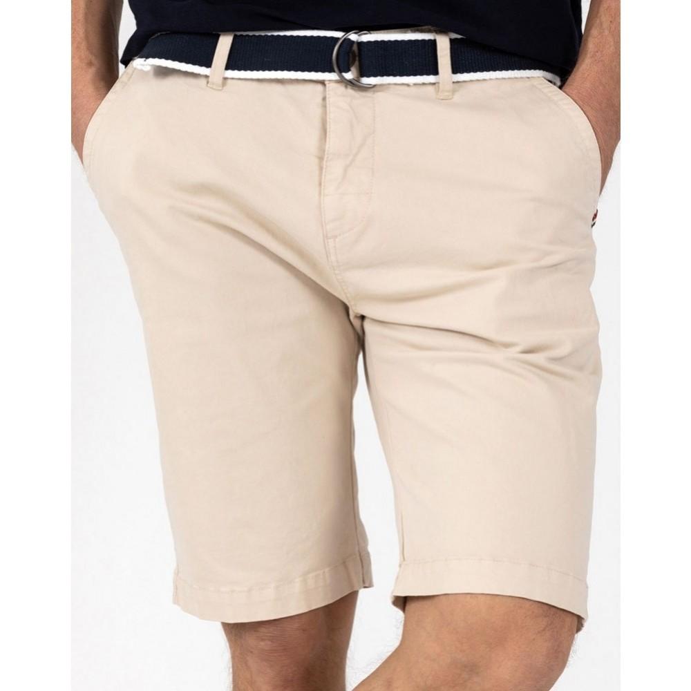Belted bermuda shorts - dark sand