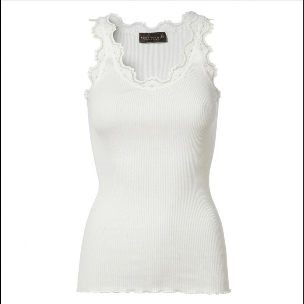 Silk top regular, white