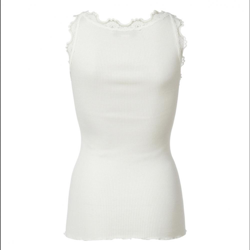 Silk top regular, white-01