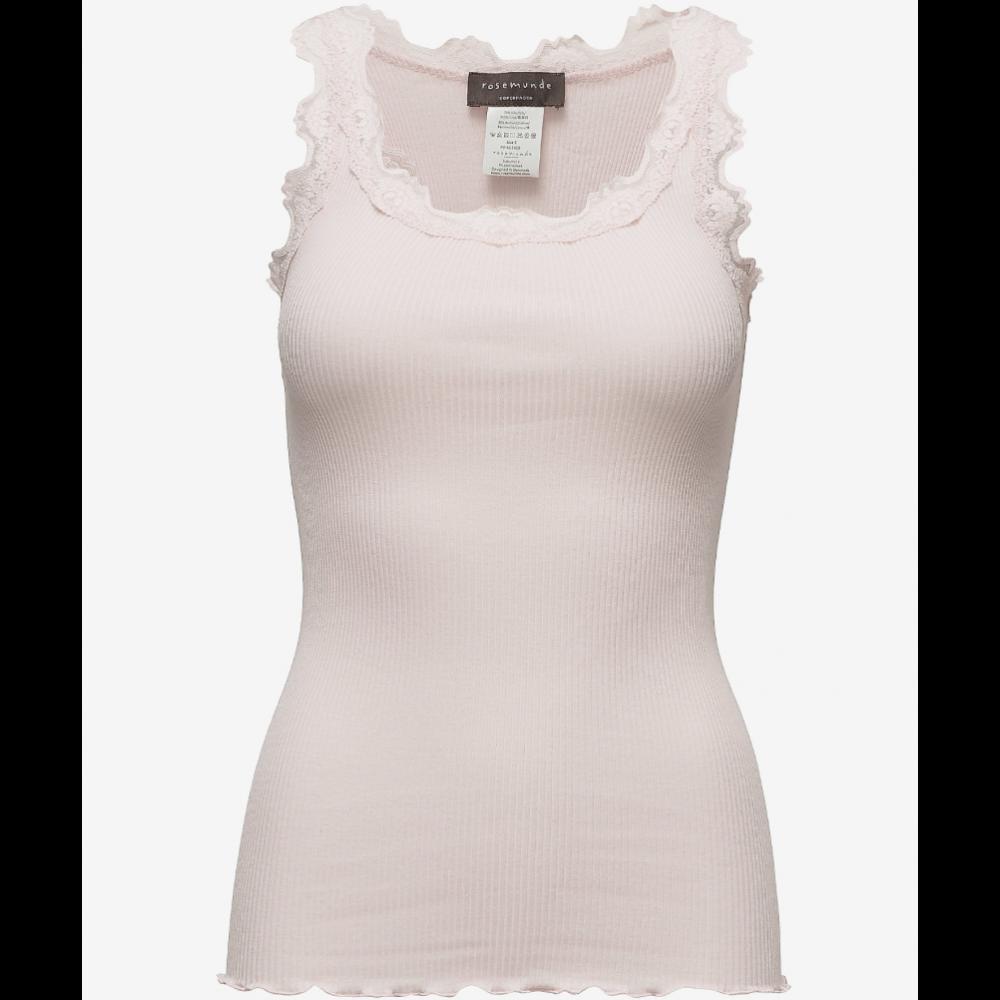 Silk regular top, soft rose
