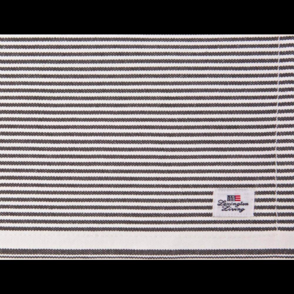 Oxford Striped Dækkeserviet, Grå