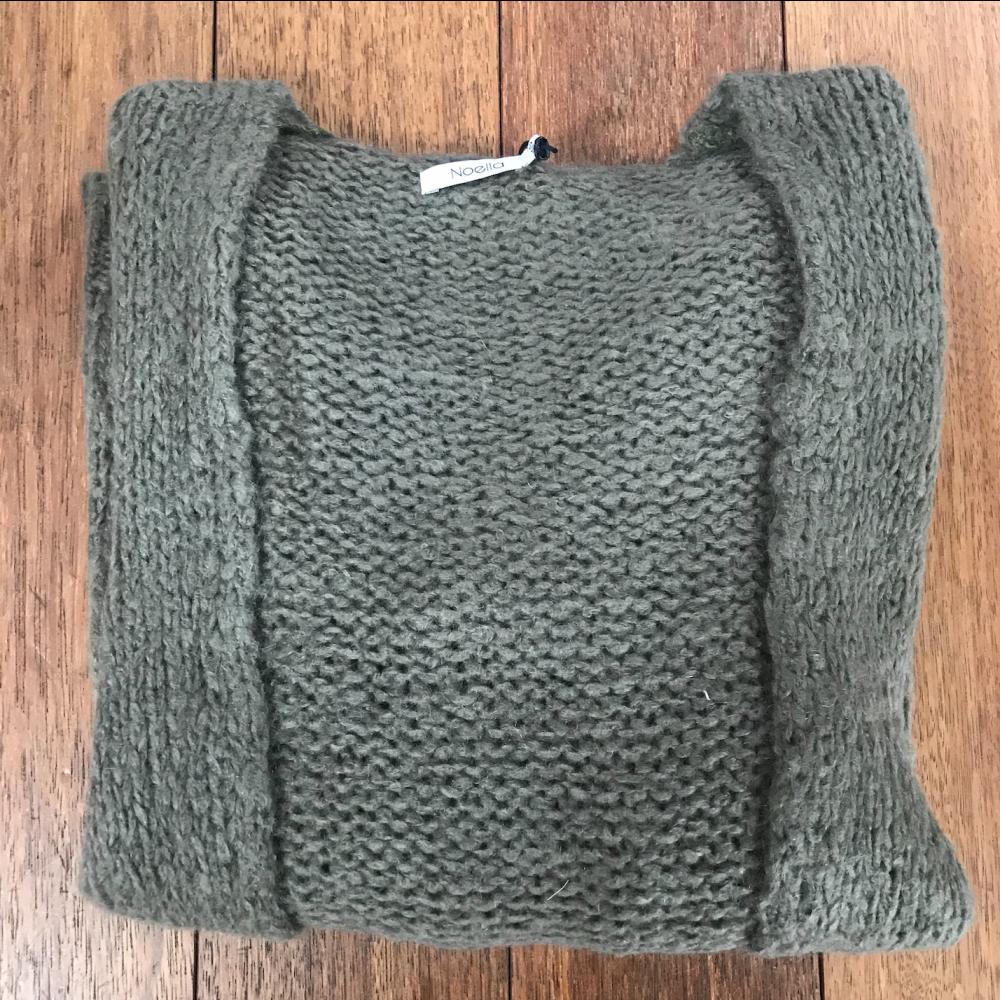 Kala Knit Cardigan Olive