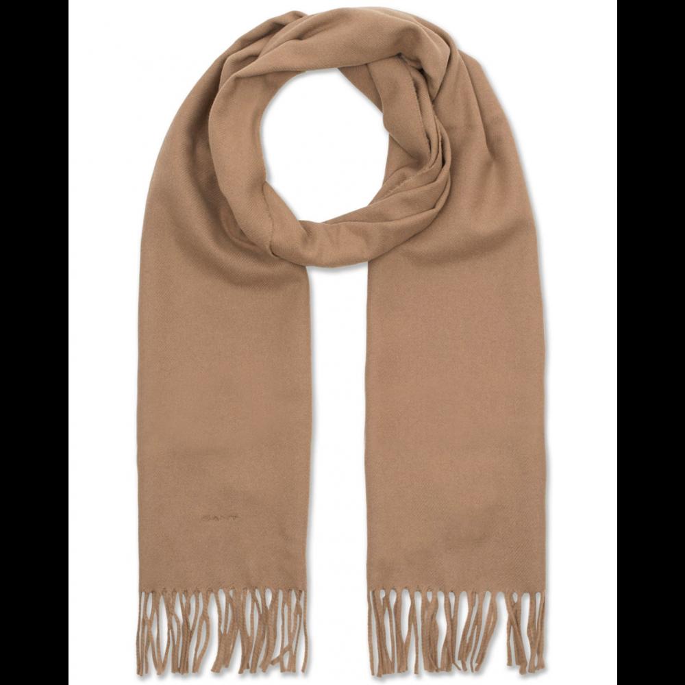 Solid Wool Scarf, Warm Khaki