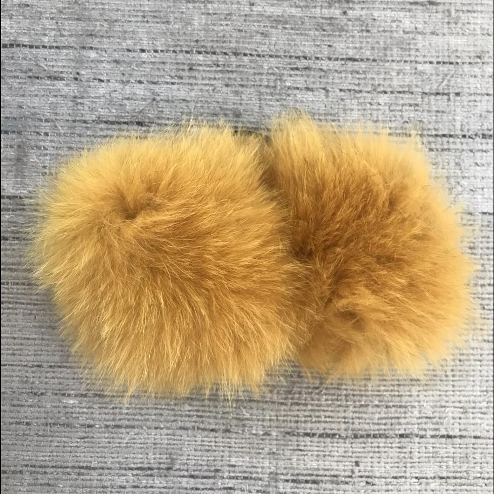 Pelsmanchetter i ræv, gul-01