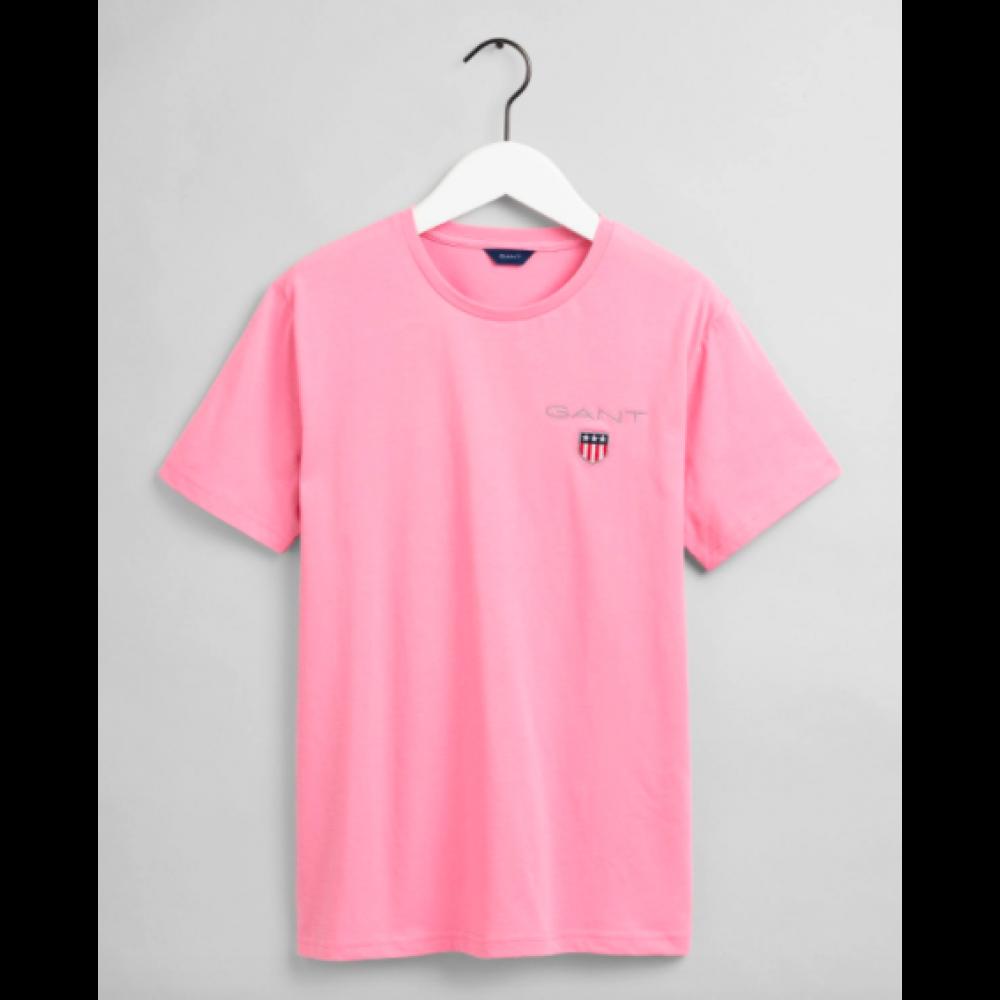 Medium Shield SS T-shirt, sea pink