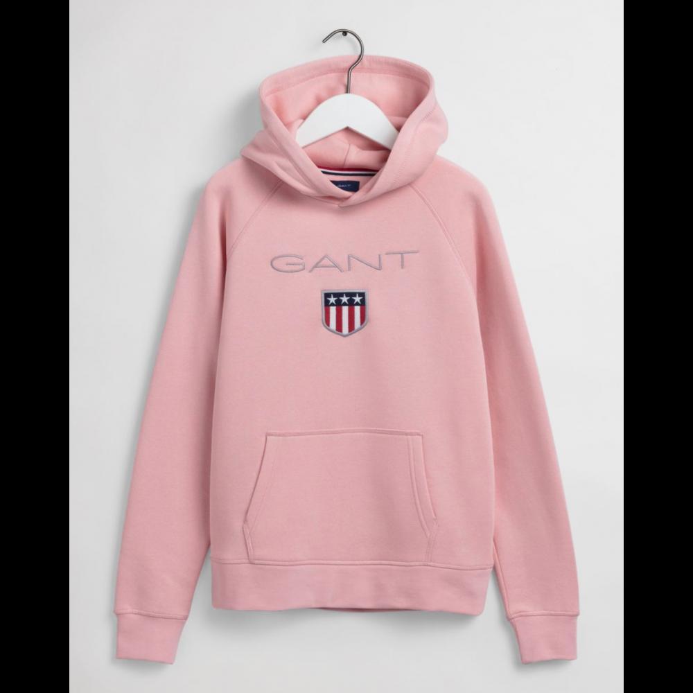 Shield hoodie - quarts pink