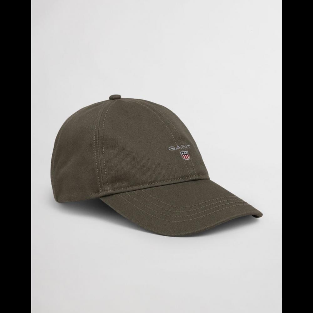 High cotton twill cap - dark leaf