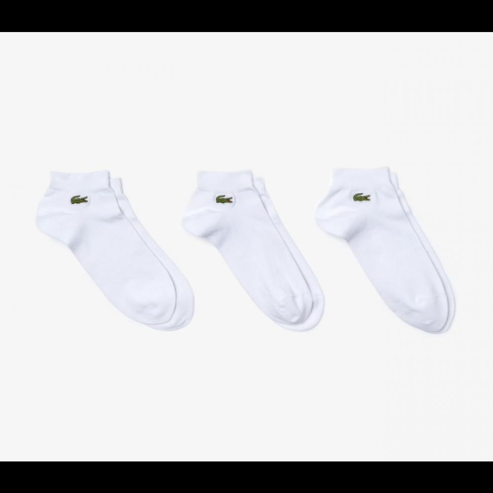 Lacoste 3-pack ankelstrømper, hvid